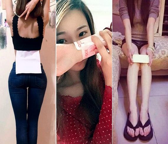 A legtöbb kihívás az - egyébként általában madárcsontú - kínai lányok Instagramján indul, ám gyorsan eljut a világon mindenhova. Ilyen gyorsan terjedő kihívás volt például nemrég az A/4-es próba, melynek során a nők arról töltöttek fel képet, hogyan fér el a derekuk a mindössze 21 centiméter széles lap mögött.A papírvékonyságot hirdető kihívás azonban nagyban irreális, csakúgy, mint csukló vékonyságát mérő papírpénz challenge és az iPhone 6 kihívás, mely utóbbit akkor sikerül teljesítenie bárkinek, ha a két térde egymás mellett maximum 14 centiméter.