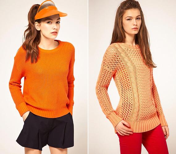 Élénk és pasztelles mandarinszínben a pulóverek sem unalmasak.