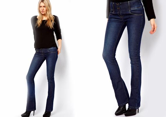 e1879cfcf3 Az egyenes szárú nadrágok nem azonosak a skinny farmerokkal. Ezeknek a  szára nem szűkül répafazonná
