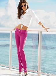 Szűk szár, nyáron, pinkben, bátraknak