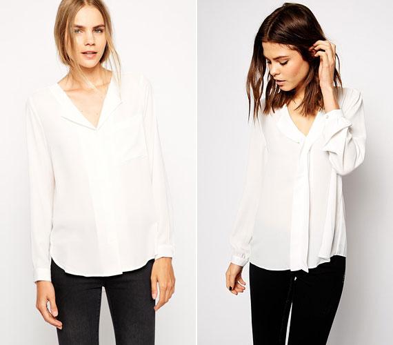 A fehér blúzt egy izgalmas nyakmegoldás nagyon feldobja, legyen az ötletes kivágás vagy nyakkendőszerű betoldás.