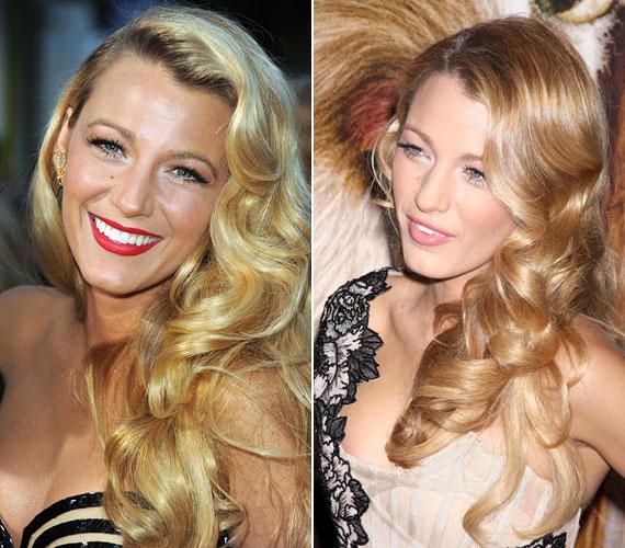 Blake Lively kedvenc frizurái közé tartozik a puha hullámokba rendezett glamúros fazon.