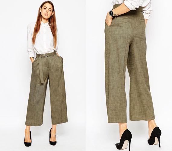 A széles, férfias szabás elsőre jó ötletnek tűnhet, de mivel az ilyen nadrág általában nem feszes anyagból készül, nincs tartása, és csak a modellek igencsak apró feneke nem tölti ki.