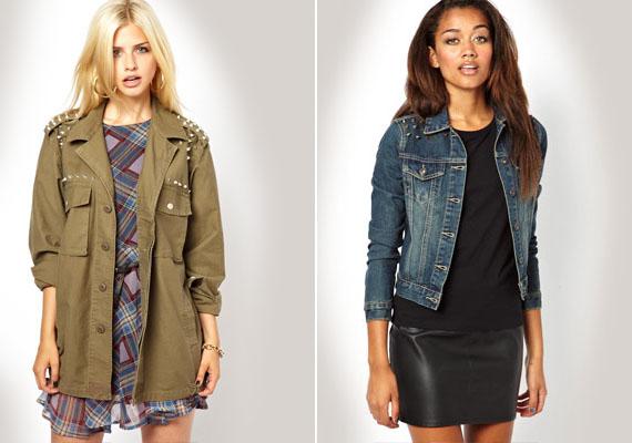 Őszre persze kell egy kabát is, mert hidegebbre fordul az idő. A szegecsekkel díszítetteket részesítsd előnyben idén.