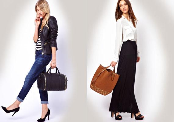 A hétköznapi táskád is lehet szegecses, hiszen kapni kevésbé feltűnő darabokat is.
