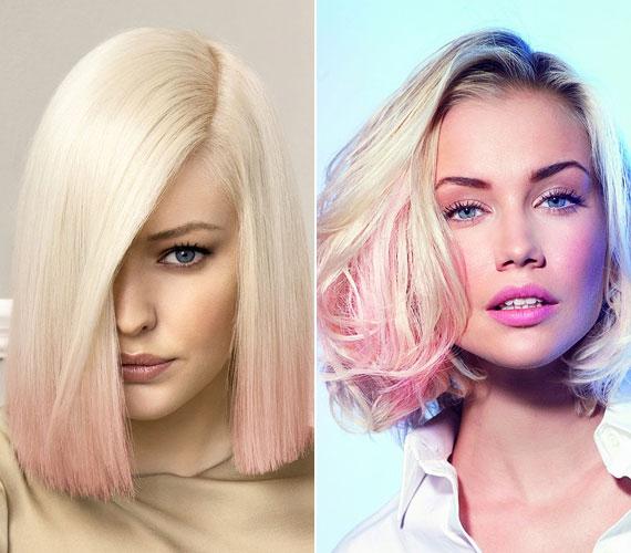 A színes haj most nagy divat, de ha nem akarsz nagyon drasztikus árnyalatokat, próbáld ki a halvány rózsaszínt, nőies, különleges, és ez a szín passzol a télhez is.