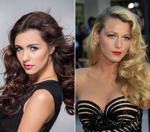 Hosszú, hullámos és nagyon nőies frizura az egyik vállon átvetve a régi hollywoodi dívákat idézi, amivel Blake Lively is szívesen operál.