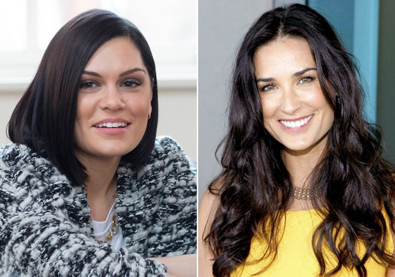A szögletes arcformához, mint amilyennek Jessie J és Demi Moore is rendelkezik, jól illenek a befelé szárított, frufru nélküli frizurák, a laza hullámok pedig lágyítják az arcéleket.