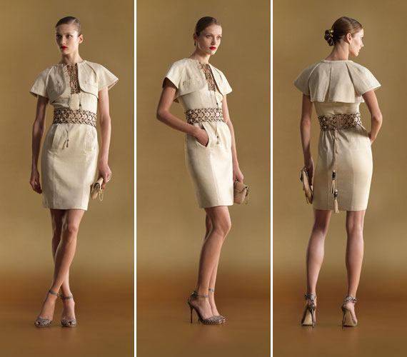 Karcsúsító ruhafazon, hétköznapi viseletre is tökéletes. A nőies formákat hangsúlyozza ez a Gucci modell.
