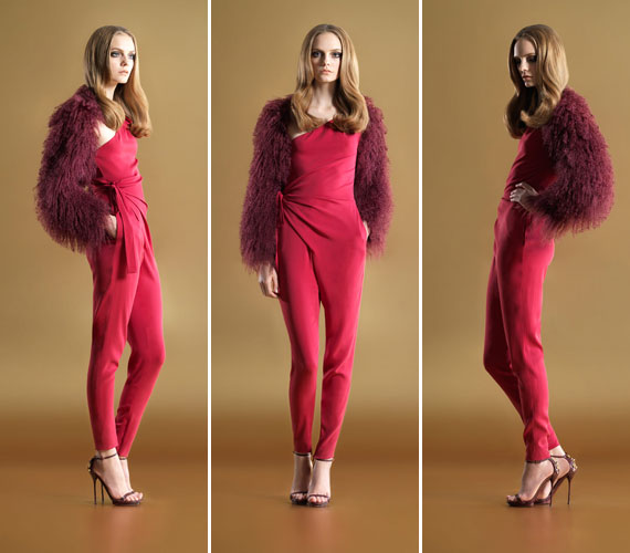 Az overall nem csak a nyár, de a 2012-es tél nagy kedvence is lesz a Gucci előrejelzése szerint. A pink, a piros ugyanúgy kötelező elem, akárcsak a derék hangsúlyozása.