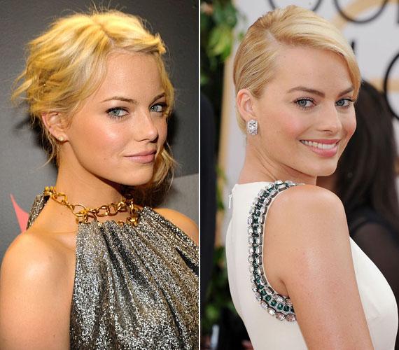 Emma Stone-t és Margot Robbie-t alig lehetett megkülönböztetni, amikor az előbbi szőke hajat viselt a Pókember című film miatt.