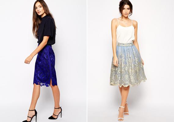 Elő a tavaszi-nyári szoknyákkal! Egy-egy letisztult felsőrésszel párosítva bármelyik megfelelő alkalmi öltözet lehet az ünnep során.