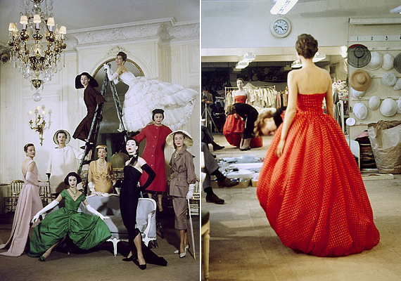 Loomis Dean mindkét képet Christian Dior megbízására készítette. Dean fekete-fehér fotókat készített, ezért ezek igazán egyedinek számítanak.