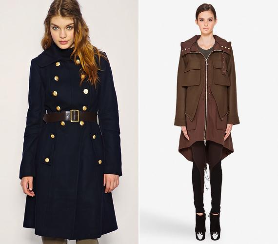 A military stílus kedvence a szűk lovaglópantalló, mely fokozza a karcsúsított kabátok alaknyújtó hatását. A bő parkák közül az aszimmetrikus, midi fazonokat vállald be.