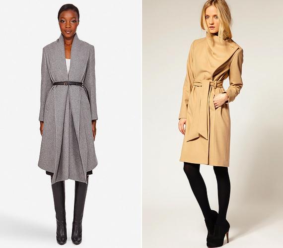 A sálgalléros és átlapolt fazonú midi kabátok kevésbé nyomnak össze. Ha övvel vagy hosszú szárú csizmával viseled őket, magasabbnak mutatnak.