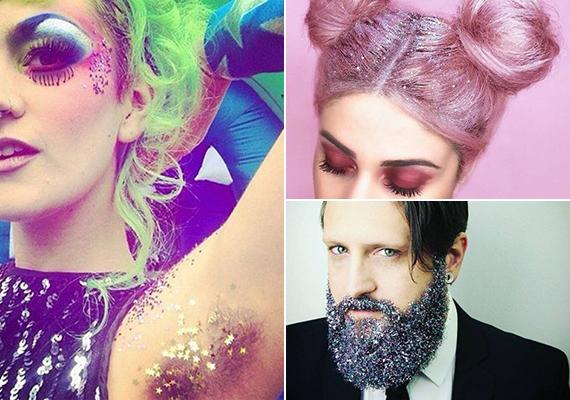 Glitterek hajválasztéktól a hónaljigA hajban egy szilveszteri bulin - de csak ott - még elmegy a brutális ragyogás, de a szakállban, és főleg a hónaljban szavakat sem nagyon találunk rá. Az optimális kifejezés talán az, hogy szörnyűek.