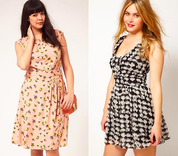 Ha mintás ruhát veszel, mindenképp olyat válassz, mely derékhangsúlyos fazonnal bír. Így nem fog egybefolyni az alakod.