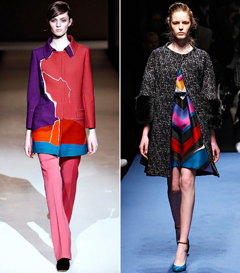 Sokszínű mix  Ha nincs érzéked ahhoz, hogy te magad állíts össze egy sokszínű mixet, keress olyan ruhákat az üzletekben, melyek több színblokkból állnak. Így már csak a kiegészítőket kell hozzáhangolnod az öltözékedhez, melyekben reflextónusként visszatükrözheted a ruhád egyik árnyalatát. A geometrikus mintázatú ruhadarabokkal a hatvanas-hetvenes évek hangulatát idézheted meg, ezért a színeken kívül arra is ügyelj, hogy a fazonok stílusilag hasonlóképpen összeklappoljanak.