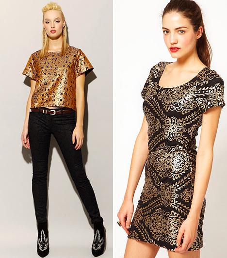 Barokk minta  Az őszi divat meglepő különlegességgel rukkolt elő: beemelte az öltözködésbe a cikornyás, aranyban pompázó, barokk mintákat. Nem könnyű velük bánni, hiszen könnyen giccsessé tehetik a megjelenést, de a fekete az elegancia medrébe terelheti őket. Vagány és nőies stílusverzióban úgyszintén viselheted a barokkos elemeket, de óvatosan adagold az aranyló csillogást, mert még úgy is az alakod ellen fordulhat, ha fekete alapon tobzódik.