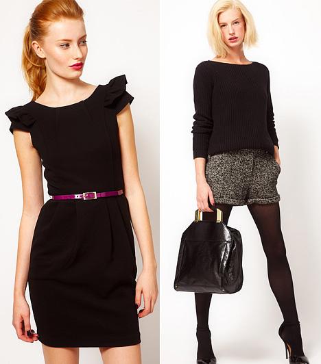 Elegancia, két tónusra alapozva  Hihetetlen, de egy vékonyka, színes övvel, a körömlakkod vagy a rúzsod színével, esetleg a táskád fémfülével vagy a cipőd fémsarkával is feldobhatod a feketére alapozott, üzletasszonyos stílust. Bár egy idő után kimerül a variációk tárháza, a kéttónusú öltözékekkel nehéz félrelőni, és az a veszély sem fenyeget, hogy valamivel elhalványítod a fekete slankító erejét.