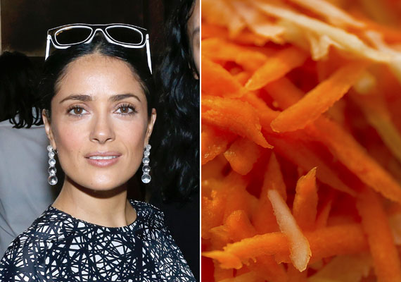 Salma Hayek a répára és az almára esküszik, lehetőleg együtt fogyasztva. Rostjaik, vitaminjaik és ásványi anyagaik segítenek formában tartani a színésznőt.