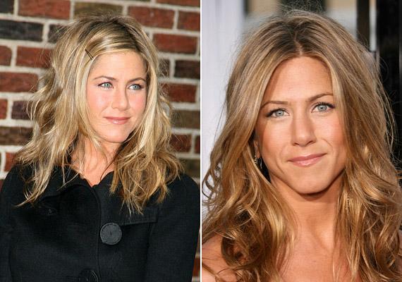 Jennifer frizurafronton is az egyszerűség híve, általában hullámosra fésüli a haját.