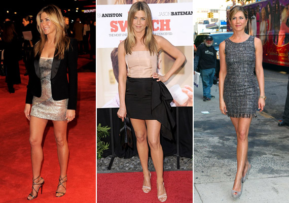 Mindig hangsúlyozd az előnyös oldaladat. Aniston tisztában van vele, hogy nagyon jó lábai vannak, ezért ezeket helyezi fókuszba, de egy keskeny csípő vagy szép dekoltázs is kiemelésre érdemes.