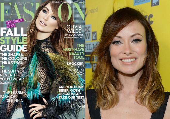 A baloldalon látható címlapon is teljesen felesleges volt Olivia Wilde külsejét ennyire művivé átformálni.