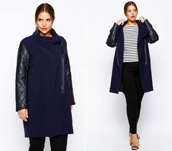 Válassz többféle anyagból készült kabátot, amit megtör a különböző textíliák játéka.