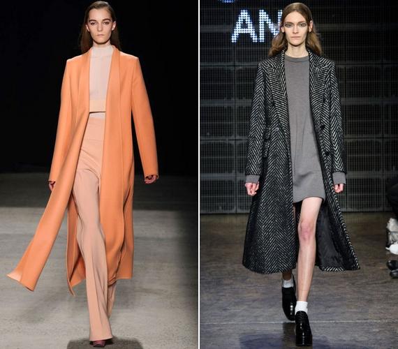Az ősz abszolút kedvence a hosszú kabát, ami önmagában is karcsúsít, de, ha felsliccelt vagy A-vonalú fazont választasz, fokozhatod ezt a hatást.