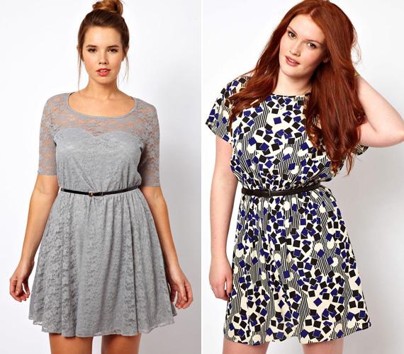 Idén a csipke és a geometrikus minták is divatosak, ám nem éppen karcsúsító hatásukról híresek. Ha azonban egy övvel összefogod a ruhát, és a derékra irányítod a figyelmet, nyugodtan viselheted.
