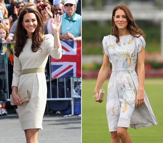 A hercegnő napbarnított bőréhez a natúr színek is remekül passzolnak: egy bézs Malene Birger vászonruhában integet a rajongóknak Kanadában, Kaliforniában pedig egy kézzel festett, Jenny Packham selyemruhában kapták lencsevégre.