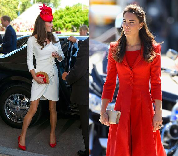 A dögös vöröstől szintén nem idegenkedik az újdonsült divatikon, amit tört fehér ruhával vagy krémszínű kiegészítőkkel szelídít meg.