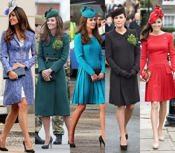 A briteknél fascinator néven ismert kis kalapok és fejdíszek az angol udvar jellegzetes kedvencei, így nem csoda, hogy Kate is gyakorta viseli őket. Mivel a legtöbb fejfedő általában színben illeszkedik az éppen viselt ruhához, sejthető, hogy a hercegné gyűjteménye alighanem a szivárvány minden színét lefedi.