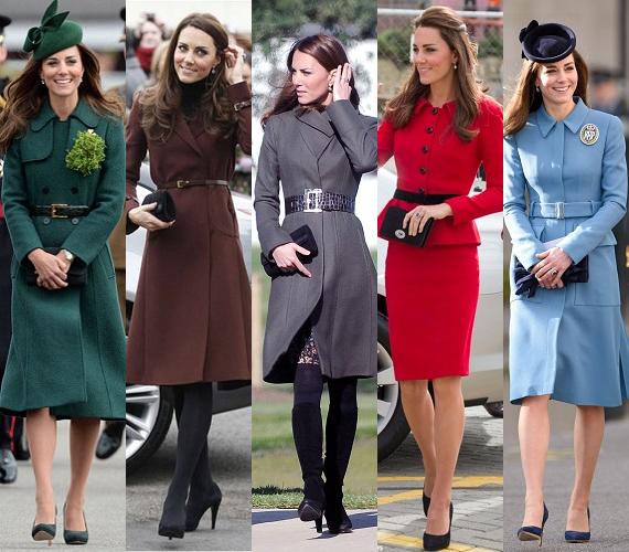 Kate Middleton az övvel díszített kabátok nagy rajongója. A derékban karcsúsított darabok általában az ékkövek színeiben pompáznak, így a smaragd, a rubin, az ametiszt és a zafírkék szín is hozzátartozik a hercegné védjegyéhez.