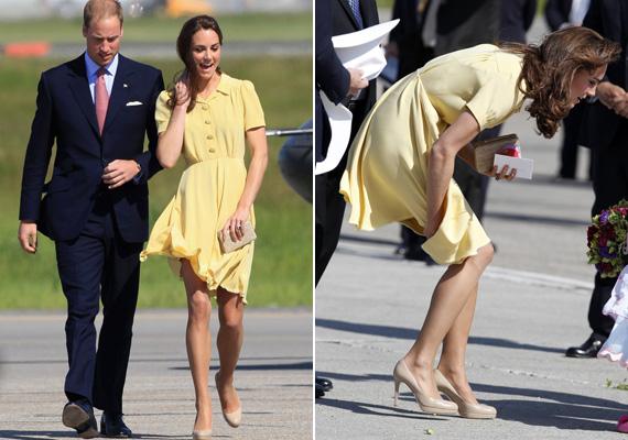 A vaníliasárga ruha tökéletes, de valóban nem helikopterek közelébe való, melyek könnyen fellebbentik. Az ifjú házasok amerikai útján készült a kép.