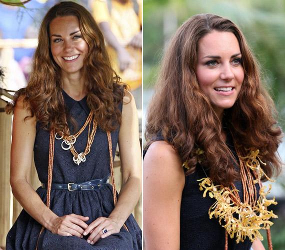 A Salamon-szigeteken még a hercegné haja sem bírt a páratartalommal, igaz, ez is jól állt neki.