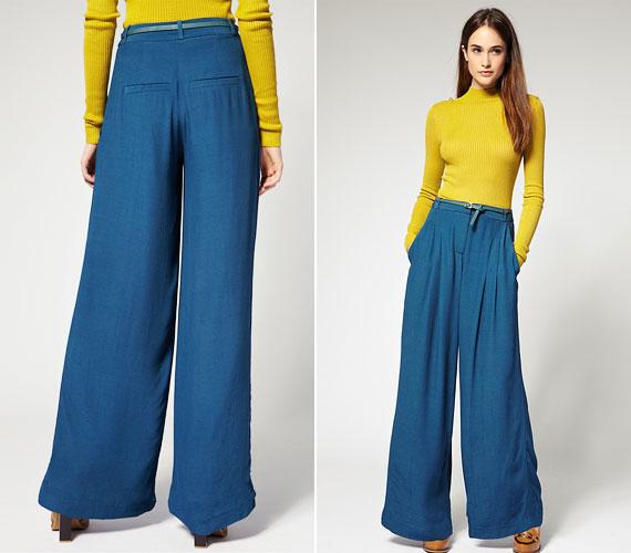 A most divatos széles szárú nadrág nem adja ki a formákat, ápol és eltakar.