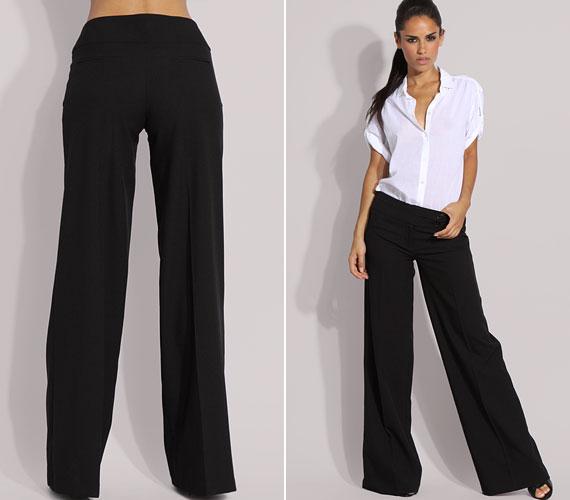 Egyszerű, széles szárú nadrág, a mindig beváló fekete színben.