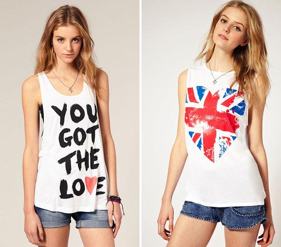 A nagy minták és feltűnő feliratok kifejezetten a vékony lányoknak kedveznek, ugyanis nem árt, ha nem nyomja szét a póló anyagát a cici.