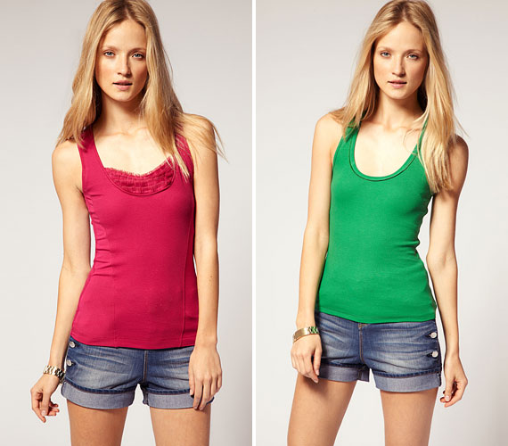 Egyszerű, színes, feszes pólók, sportos lányoknak, farmerhez és szoknyához is.