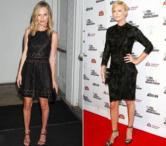A csipke nagyon rafinált, és most igen divatos, de vigyázni kell, hogy ne tűnjön közönségesnek. Kate Bosworth fekete alapon viseli, ahogy Charlize Theron is.
