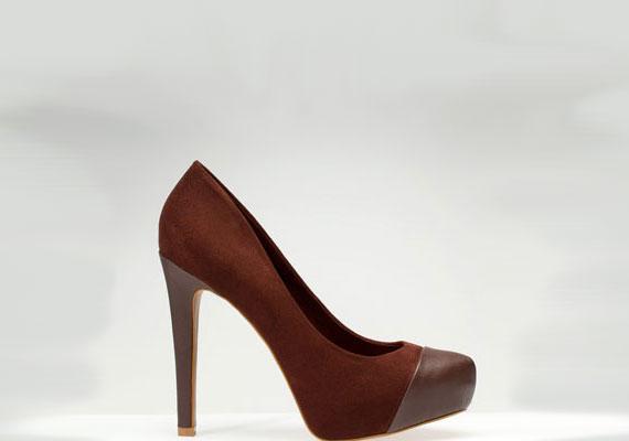 Barna cipő, Stradivarius, 9595 forint.