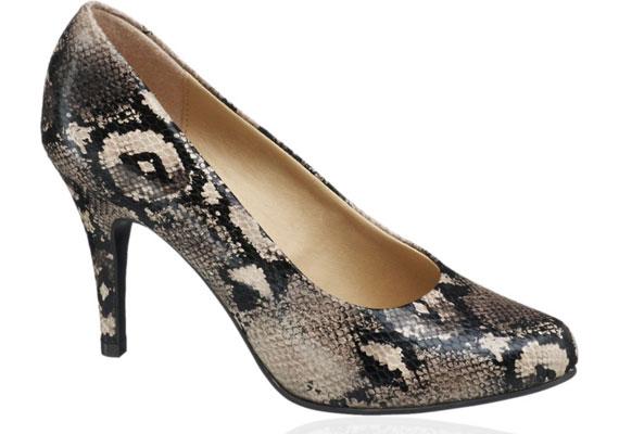 Kígyómintás cipő, Deichmann, 5990 forint.