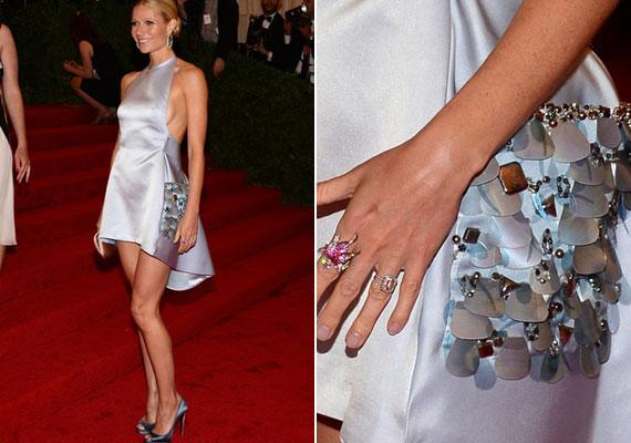 A People magazin szerint Gwyneth Paltrow a világ legjobban öltözött nője - itt egy Prada ruhát visel a Met-gálán.