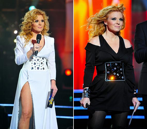 A Megasztár ötödik szériájában szintén fehéret viselt Claudia az utolsó döntő alatt. Az a kreáció sokkal merészebb volt az ideinél, a hasíték és a dekoltázs is többet mutatott. A derekat hangsúlyozó csillogó övet már előtte is elsütötték a stylistok, a kilencedik döntőben, egy rafinált fekete ruhával.
