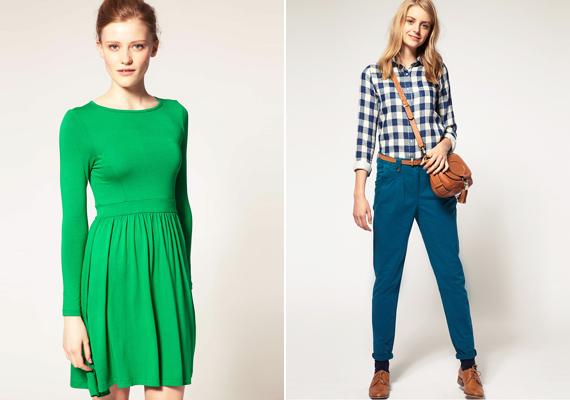 A zöld és kék árnyalatai egyaránt jól állnak a tavasz- és nyár típusnak. A két színt akár még együtt is kombinálhatod.