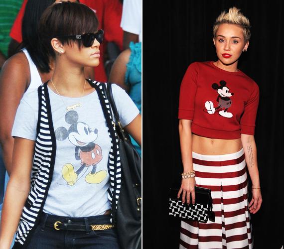 Mickey egér is sokak kedvence, Rihannának és Miley Cyrusnak is akad a gardróbjában egy-egy darab a figurával.
