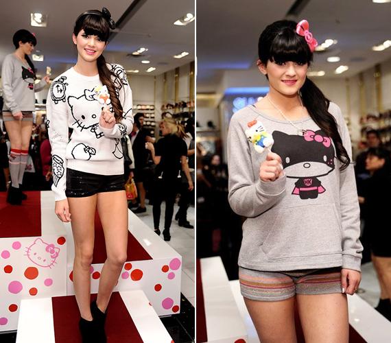 Kendall és Kylie Jenner, Kim Kardashian mostohahúgai Hello Kittyre szavaznak a pulcsijuk alapján.