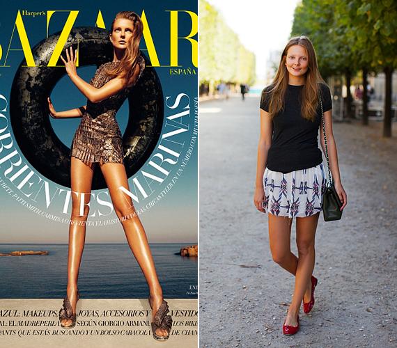 Mihalik Enikőnek egyébként is hosszú lábai vannak, ám a spanyol Harper's Bazaar júniusi számában arról tanúskodnak a képek, hogy a retusőrök kicsit túlzásba estek a photoshopos csalással: Enikő csípője szinte teljesen eltűnt a fotókon, így derékig érő lábakat kapott.